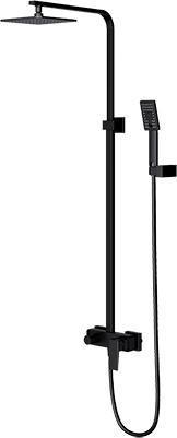 Душевая система Omnires PM7444 BL 20х20 см, чёрная