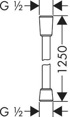 Hansgrohe Comfortflex 28167000 1250 мм