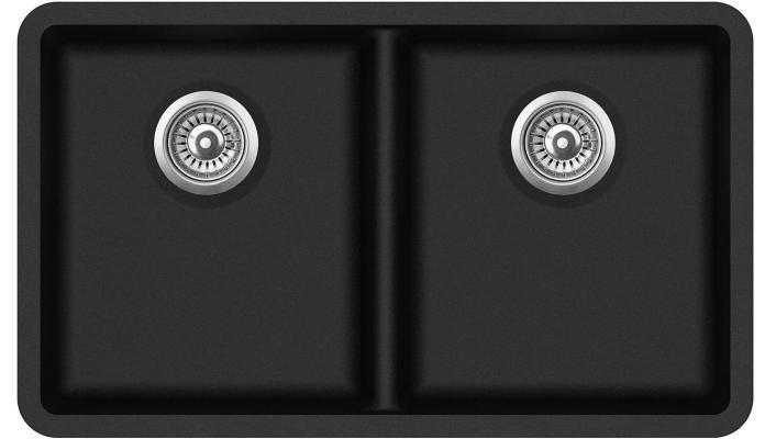 Кухонная мойка AquaSanita Arca SQA 200 601 W black metallic