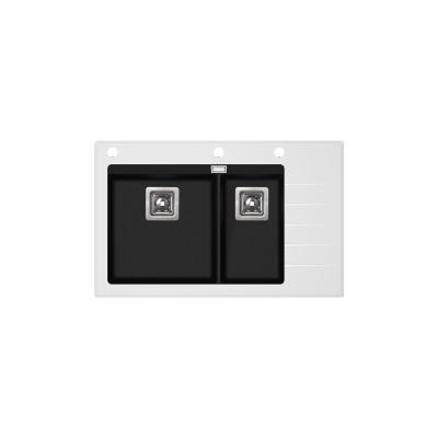 Кухонная мойка AquaSanita Delicia Plus GQD 150 W 601 AW black metallic