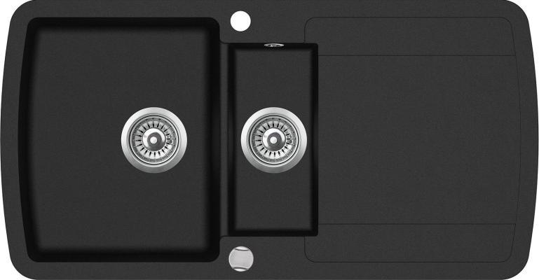 Кухонная мойка AquaSanita Lira SQL 151 601 AW black metallic