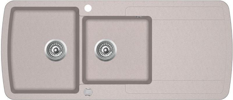 Кухонная мойка AquaSanita Lira SQL 201 110 AW beige