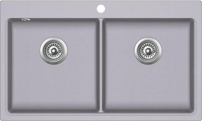 Кухонная мойка AquaSanita Magna SQM 200 202 AW alumetallic