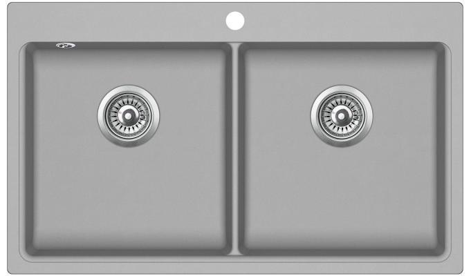 Кухонная мойка AquaSanita Magna SQM 200 220 AW argent