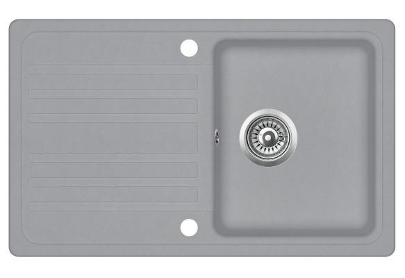 Кухонная мойка AquaSanita Notus SQ 101 221 AW light grey
