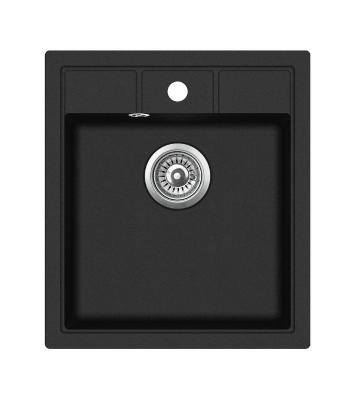Кухонная мойка AquaSanita Nova SQN 100 601 W black metallic