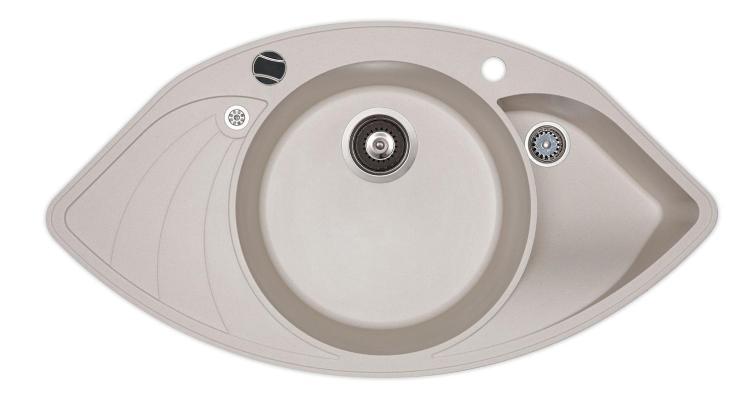 Кухонная мойка AquaSanita Papillon SCP 151 111 AW silica