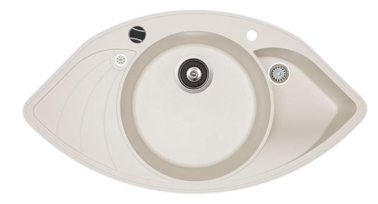 Кухонная мойка AquaSanita Papillon SCP 151 710 AW alba