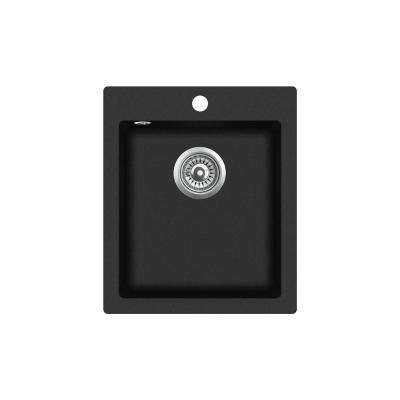 Кухонная мойка AquaSanita Simplex SQS 100 601 W black metallic