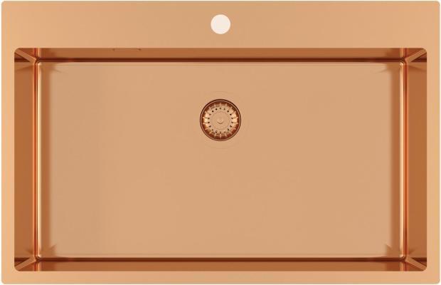 Кухонная мойка AquaSanita Steel AIR 100 M-C copper