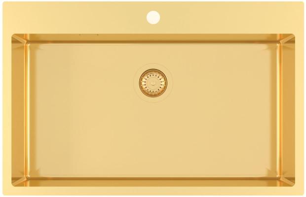 Кухонная мойка AquaSanita Steel AIR 100 M-G gold