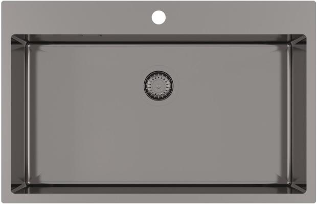 Кухонная мойка AquaSanita Steel AIR 100 M-T graphite