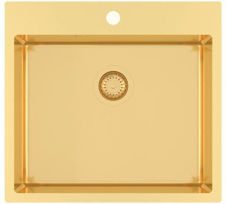 Кухонная мойка AquaSanita Steel AIR 100 N-G gold