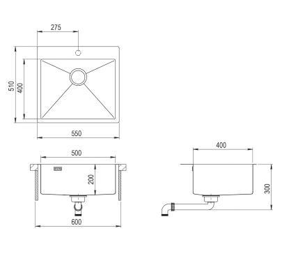 AquaSanita Steel AIR 100 N-T graphite