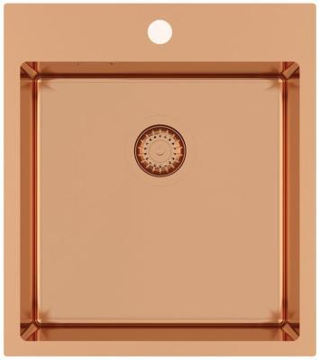 Кухонная мойка AquaSanita Steel AIR 100 X-C copper