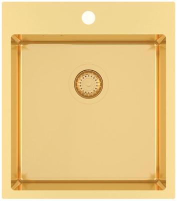 Кухонная мойка AquaSanita Steel AIR 100 X-G gold