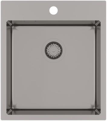 Кухонная мойка AquaSanita Steel AIR 100 X-T graphite
