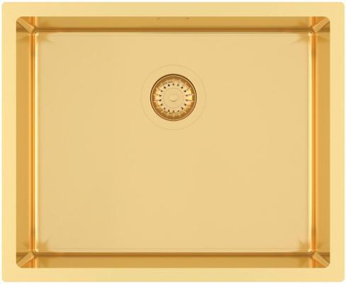 Кухонная мойка AquaSanita Steel DER 100 L-G gold