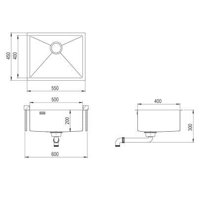 AquaSanita Steel DER 100 L-T graphite