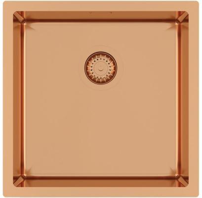 Кухонная мойка AquaSanita Steel DER 100 X-C copper