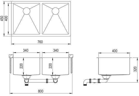 AquaSanita Steel ENN 200 L