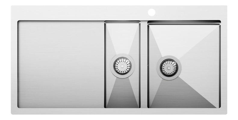 Кухонная мойка AquaSanita Steel LUNA 151 M-R