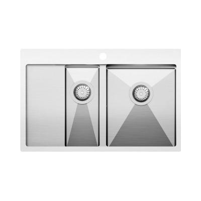 Кухонная мойка AquaSanita Steel LUNA 151 N-R