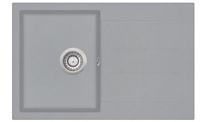 Кухонная мойка AquaSanita Tesa SQT 101 221 AW light grey