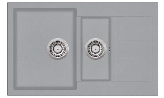 Кухонная мойка AquaSanita Tesa SQT 151 221 AW light grey