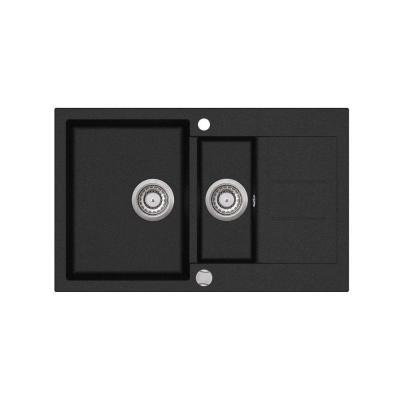 Кухонная мойка AquaSanita Tesa SQT 151 601 AW black metallic