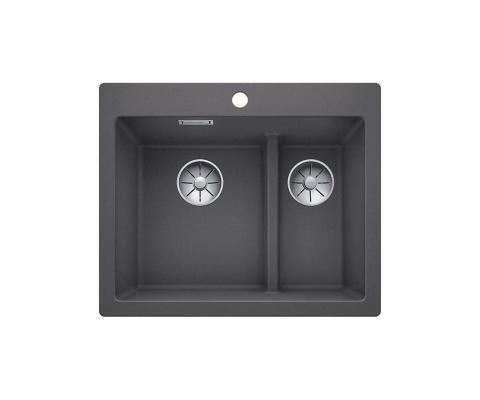 Кухонная мойка Blanco Pleon 6 split темная скала