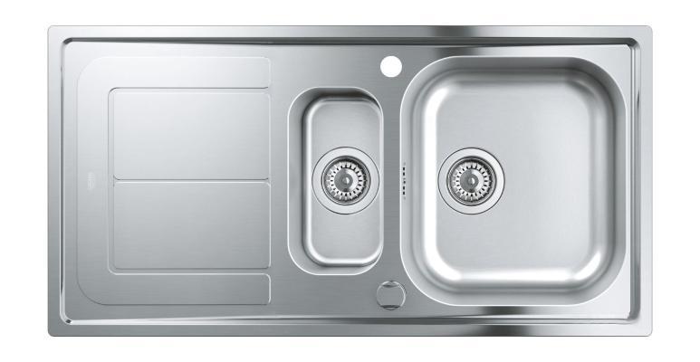Кухонная мойка Grohe 31564SD0 из нержавеющей стали с корзинчатым вентилем