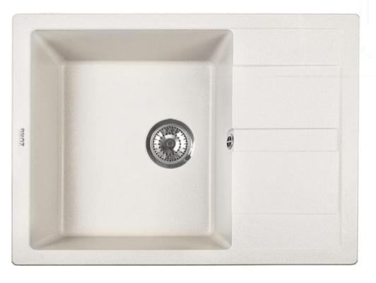 Кухонная мойка ZorG Apollo 65 белый камень