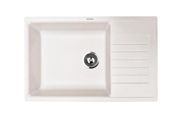 Кухонная мойка ZorG Dello 78 белый камень