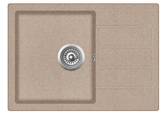 Кухонная мойка ZorG ECO-2 бежевая (без вентиля)