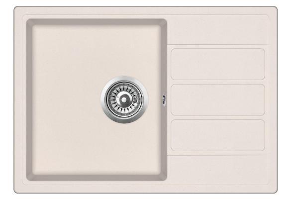 Кухонная мойка ZorG ECO-2 песочная (без вентиля)