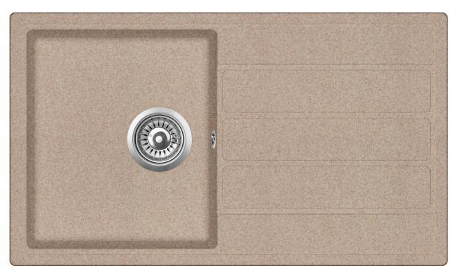Кухонная мойка ZorG ECO-3 бежевая (без вентиля)