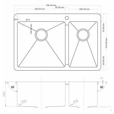 ZorG INOX -PVD SZR 78-2-51 L BRONZE