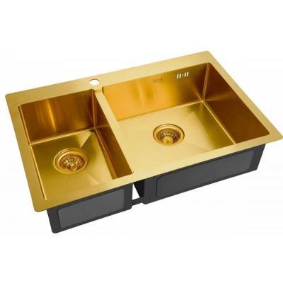 Кухонная мойка ZorG INOX -PVD SZR 78-2-51 R BRONZE