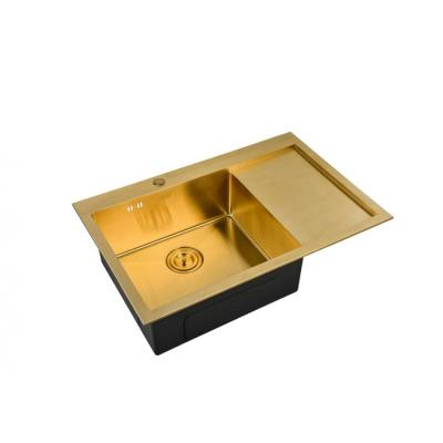 Кухонная мойка ZorG INOX -PVD SZR 7851 R BRONZE