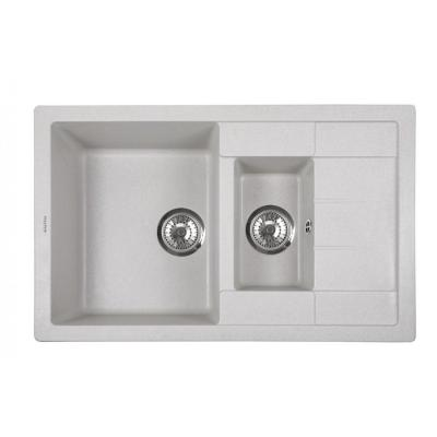 Кухонная мойка ZorG Luka 78- 2 серый жемчуг