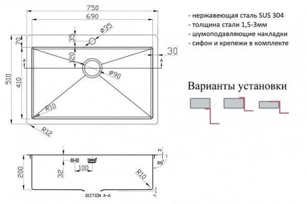 ZorG PVD 7551 GRAFIT 3мм