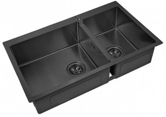 Кухонная мойка ZorG PVD 78-2-51 L GRAFIT 3мм