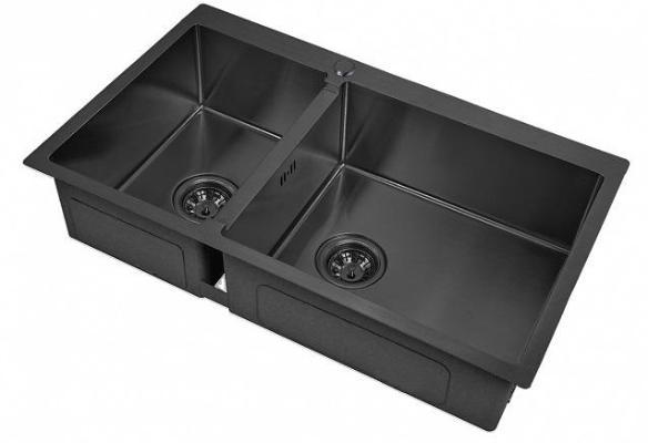 Кухонная мойка ZorG PVD 78-2-51 R GRAFIT 3мм