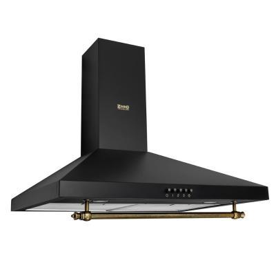 Кухонная вытяжка ZorG Technology CESUX 650 60 M черная+релинг бронза