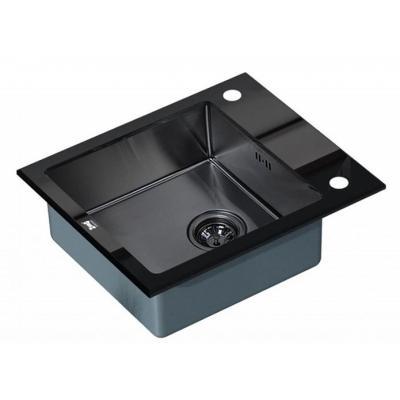 Кухонная мойка ZorG GL 6051 black-grafit со стеклом