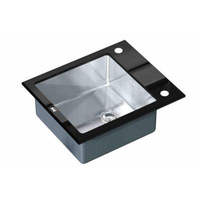 Кухонная мойка ZorG GL 6051 black со стеклом