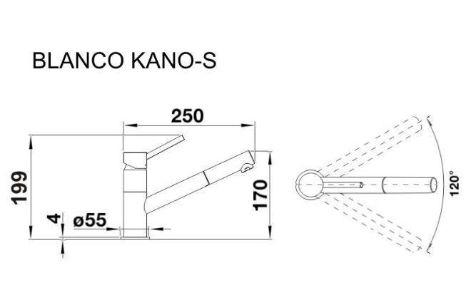 Blanco Kano-s хром