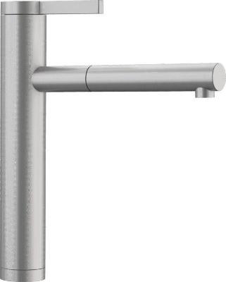 Смеситель Blanco Linee-S  517593 нерж. сталь с матовой полировкой