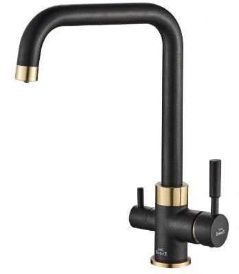 Смеситель для кухни ZorG Steel Hammer SH 715 черный + бронза